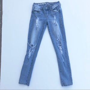 S.O.N.G Rocker Skinny Ankle Distressed Jeans